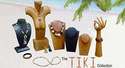 tiki wood jewelry displays