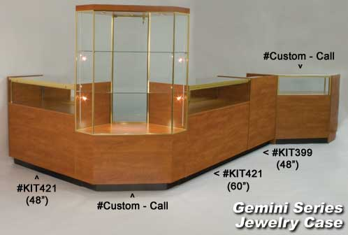 Gemini jewelry display cases showcases display cases for Jewelry stores in usa