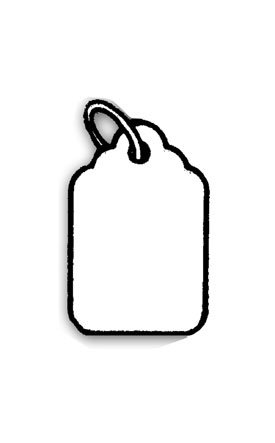 Strung Merchandise Tags
