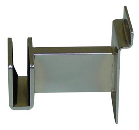 "3"" Rectangular Tube Slatwall Hangrail Bracket"
