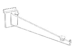 Lexan Slatwall Shelf Bracket 10""