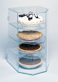 Four Tier Pie Display Case