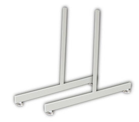 2' Rectangular Grid Legs with Levelers White