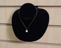 "Black Velvet Slatwall Necklace Display - 6"" X 5 1/2"""