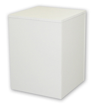 Large Wood Pedestal - White