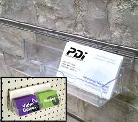 Pegboard/Slatwall Business Card Holder