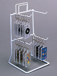 Keychain Display - Four Peg Counter Rack