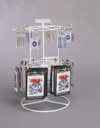 Twelve Peg 2-Tier Spinning Rack