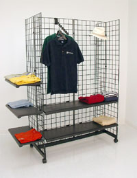 Grid Gondola Merchandiser - 5ft High