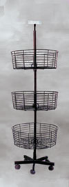 Revolving Rack - 3 Tier Bin Spinner Rack