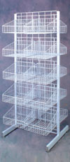 20 Basket Floor Display Merchandiser