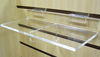 Deluxe Braced Acrylic Slatwall Shelf