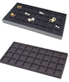Black Flocked Tray Insert - 32 Compartment
