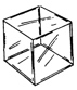 "5 Sided Cube 4"" Square 3/16"" Thick"