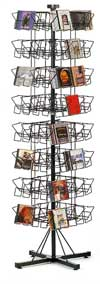 Revolving Rack - CD Floor Spinner Rack