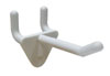 "2"" Nylon Pegboard Hook and Slatwall Hook - White"