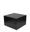 Small Wood Pedestal - Black