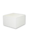 Small Wood Pedestal - White