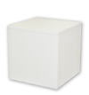 Medium Wood Pedestal - White