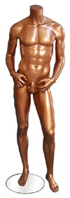 Millennium Bronze Male Mannequin - Hands on Hips