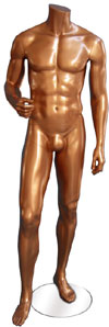 Millennium Bronze Male Mannequin - One Hand Up