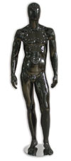 Metro Series Male Mannequin - Hands By Sides - Gloss Black