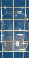 Gridwall Merchandising Bin - Medium
