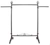 Rolling Rack - Raw Steel with Straight Arms