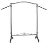 Garment Rack - Rolling Raw Steel Rack with Waterfall Arms