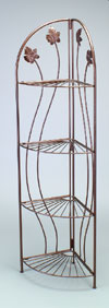 Floor Rack - Ornate Corner Display, 4-Tier