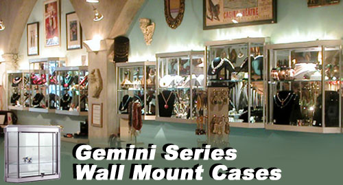 Gemini Wall Mount Display Cases