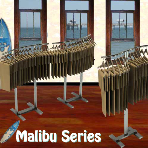 Malibu Series Curved Garment Racks