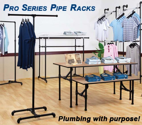 Pro Series Pipe Clothing Racks