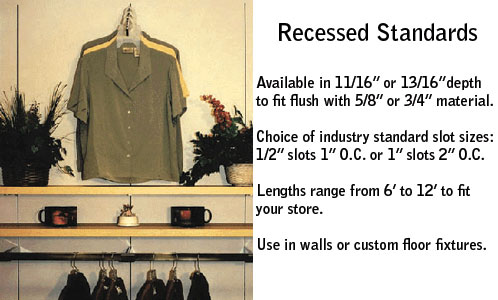 Recessed Wall Standard