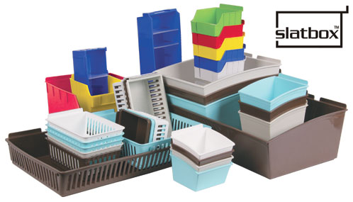 Slatbox Gridwall Display Bins
