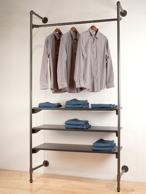 Urban pipe clothing racks garment