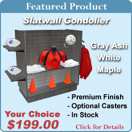 Slatwall Floor Displays