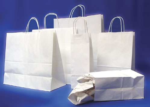 Kraft White Shopping Bags