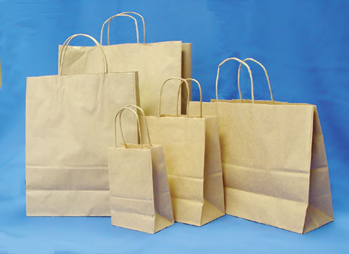 Kraft Natural Shopping Bags