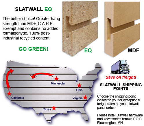 Slatwall Panels Shipping
